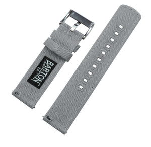 Fossil Gen 5 | Cool Grey Canvas - Barton Watch Bands