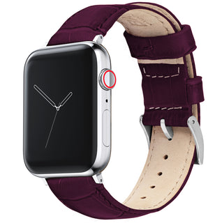 Load image into Gallery viewer, Apple Watch | Merlot Alligator Grain Leather
