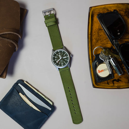 Army Green | Two-Piece NATO Style - Barton Watch Bands