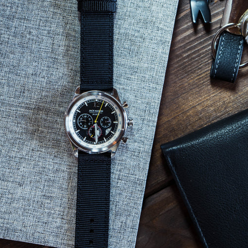 Black | Two-Piece NATO Style - Barton Watch Bands