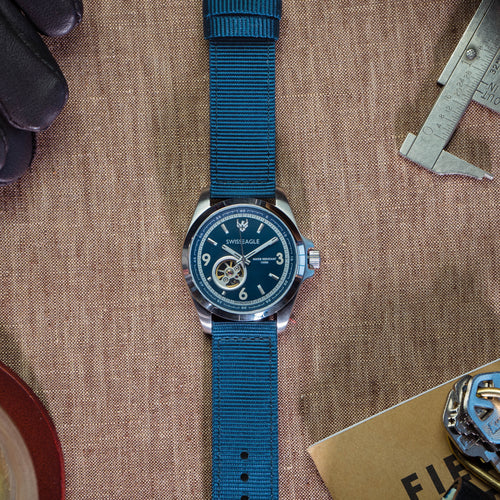 Steel Blue | Two-Piece NATO Style - Barton Watch Bands