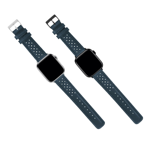 Apple Watch | Navy Blue Racing Horween Leather - Barton Watch Bands