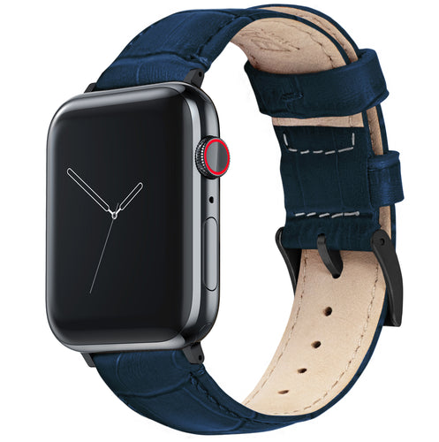 Apple Watch | Navy Blue Alligator Grain Leather