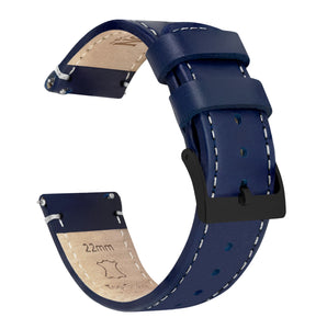 Samsung Galaxy Watch Active | Navy Blue Leather & White Stitching