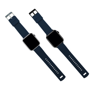 Load image into Gallery viewer, Apple Watch | Elite Silicone | Navy Blue Top / Crimson Red Bottom
