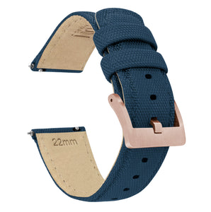 Fossil Sport | Sailcloth Quick Release | Navy Blue - Barton Watch Bands