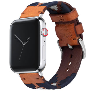 Load image into Gallery viewer, Apple Watch | Gaucho | Navy & Linen - Barton Watch Bands