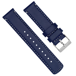 Gear S3 Classic &  Frontier | Navy Blue Leather & White Stitching