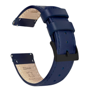 Navy Blue Leather | Navy Blue Stitching - Barton Watch Bands