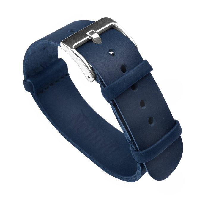 Navy Blue | Leather NATO Style