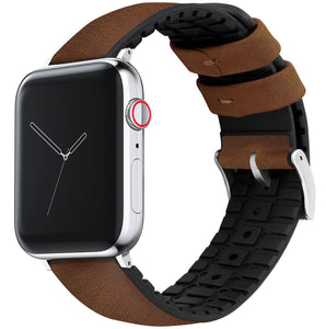 Apple Watch | Oak Brown Leather and Rubber Hybrid