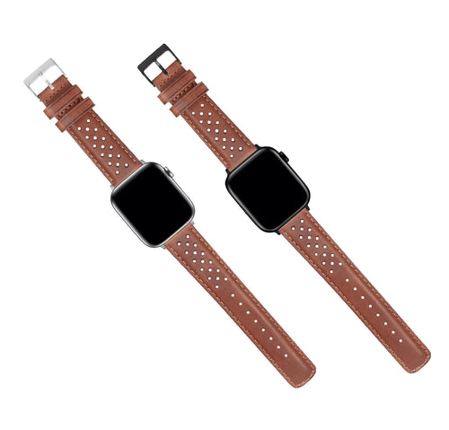 Apple Watch | Caramel Brown Racing Horween Leather - Barton Watch Bands