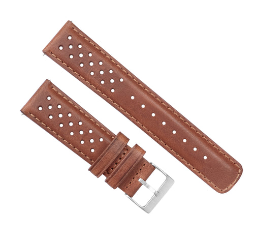 Samsung Galaxy Watch3 | Racing Horween Leather | Caramel Brown - Barton Watch Bands