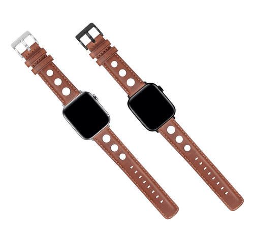 Apple Watch | Caramel Brown Rally Horween Leather - Barton Watch Bands