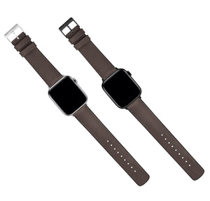 Apple Watch | Smoke Leather and Rubber Hybrid