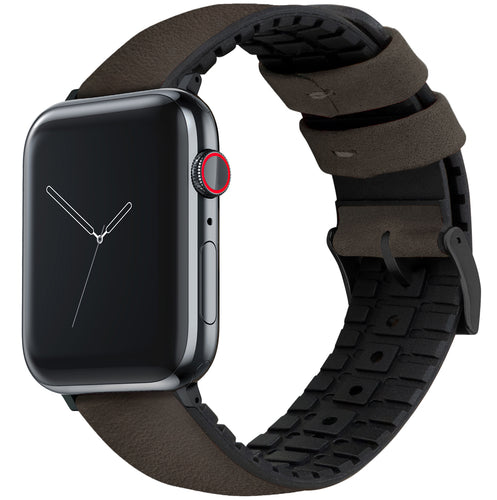 Apple Watch | Smoke Leather and Rubber Hybrid - Barton Watch Bands