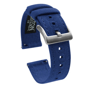 Gear S3 Classic & Frontier | Royal Blue Canvas - Barton Watch Bands