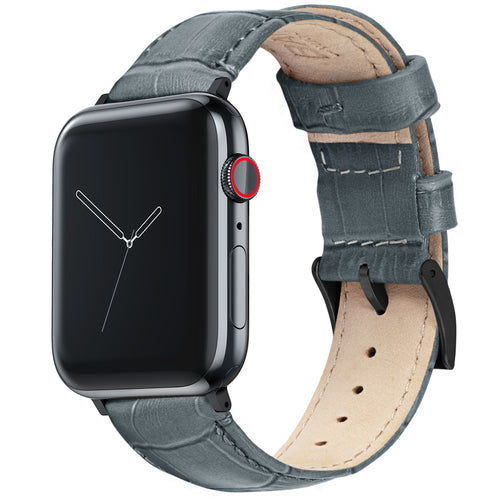 Apple Watch | Smoke Grey Alligator Grain Leather