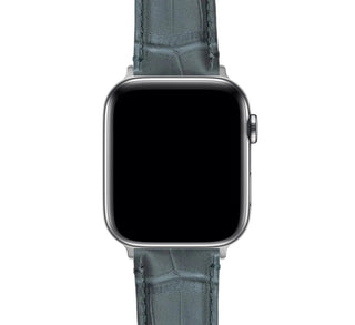 Load image into Gallery viewer, Apple Watch | Smoke Grey Alligator Grain Leather - Barton Watch Bands