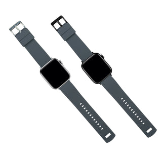 Load image into Gallery viewer, Apple Watch | Elite Silicone | Smoke Grey Top / Black Bottom