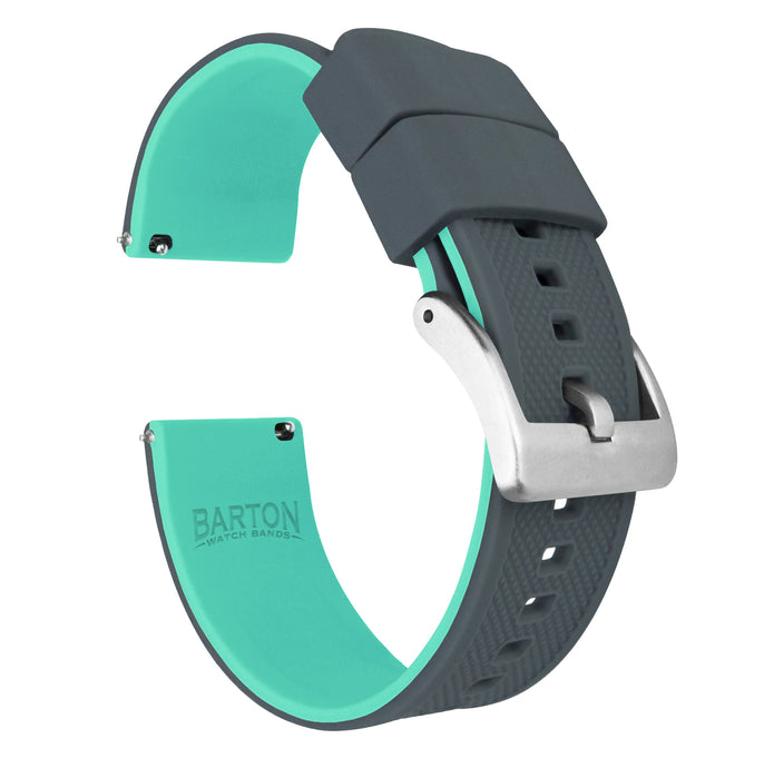 Fossil Sport | Elite Silicone | Smoke Grey Top / Mint Green Bottom