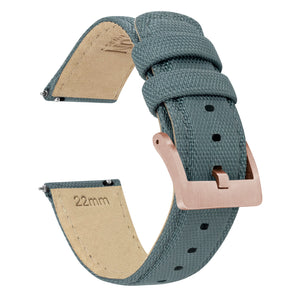 Fossil Sport | Sailcloth Quick Release | Slate Grey - Barton Watch Bands