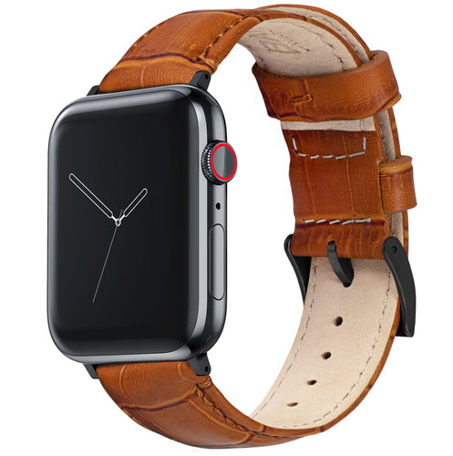 Apple Watch | Toffee Brown Alligator Grain Leather