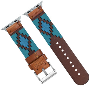 Load image into Gallery viewer, Apple Watch | Gaucho | Turquoise & Sky Blue - Barton Watch Bands