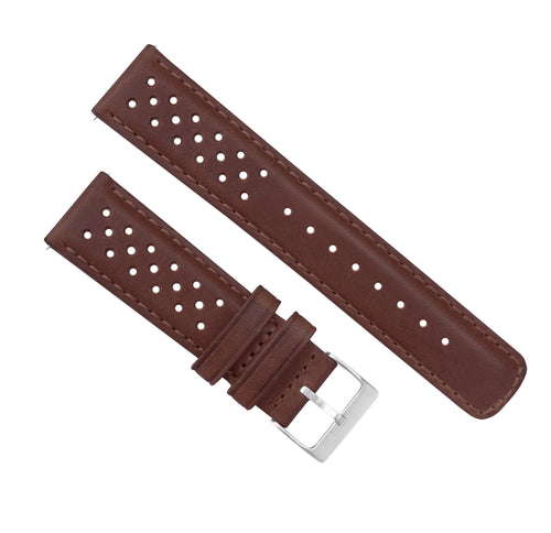 Samsung Galaxy Watch3 | Racing Horween Leather | Chocolate Brown - Barton Watch Bands