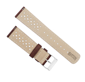 Fossil Sport | Racing Horween Leather | Chocolate Brown - Barton Watch Bands
