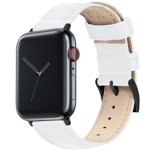 Apple Watch | White Alligator Grain Leather