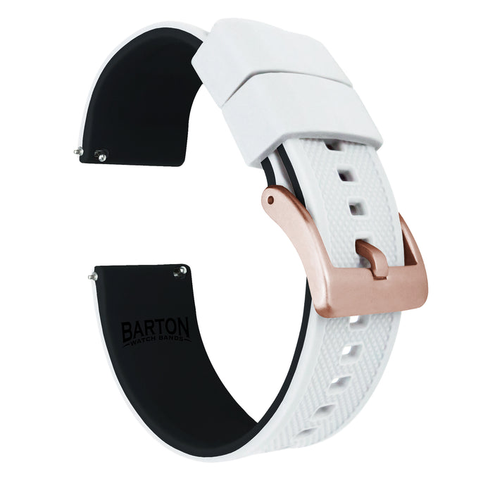 Fossil Sport | Elite Silicone | White Top / Black Bottom