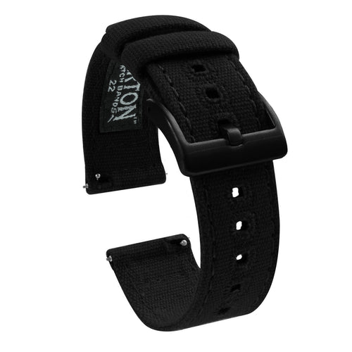 Amazfit Bip | Black Canvas Amazfit Bip Barton Watch Bands Black PVD