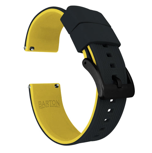 Amazfit Bip | Elite Silicone | Black Top / Yellow Bottom Amazfit Bip Barton Watch Bands Black PVD
