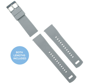 Amazfit Bip | Elite Silicone | Cool Grey Top / Black Bottom - Barton Watch Bands