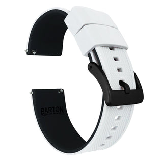Load image into Gallery viewer, Amazfit Bip | Elite Silicone | White Top / Black Bottom Amazfit Bip Barton Watch Bands Black PVD