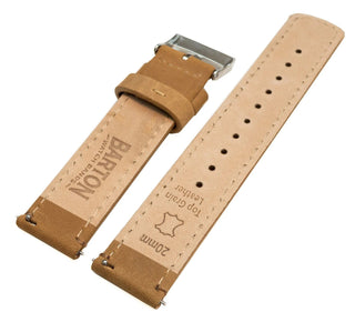 Load image into Gallery viewer, Amazfit Bip | Gingerbread Brown Leather & Stitching Amazfit Bip Barton Watch Bands