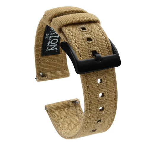 Amazfit Bip | Khaki Canvas Amazfit Bip Barton Watch Bands Black PVD