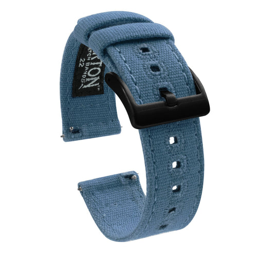 Amazfit Bip | Nantucket Blue Canvas Amazfit Bip Barton Watch Bands Black PVD