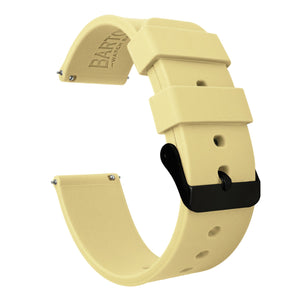 Amazfit Bip | Silicone | Happy Yellow Amazfit Bip Barton Watch Bands Black PVD