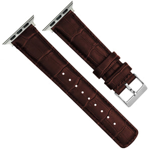Apple Watch | Coffee Brown Alligator Grain Leather - Barton Watch Bands