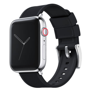 Load image into Gallery viewer, Apple Watch | Elite Silicone | Black Apple Watch Bands Barton Watch Bands Small (38mm & 40mm) Stainless Steel Standard