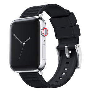 Apple Watch | Elite Silicone | Black Apple Watch Bands Barton Watch Bands Small (38mm & 40mm) Stainless Steel Standard