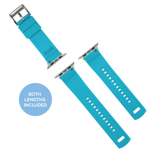 Load image into Gallery viewer, Apple Watch | Elite Silicone | Black Top / Aqua Blue Bottom Apple Watch Bands Barton Watch Bands