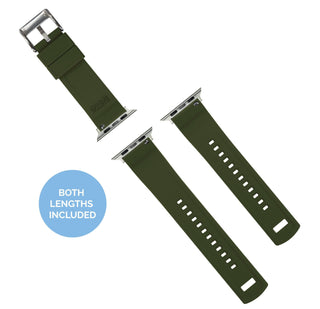 Load image into Gallery viewer, Apple Watch | Elite Silicone | Black Top / Army Green Bottom Apple Watch Bands Barton Watch Bands