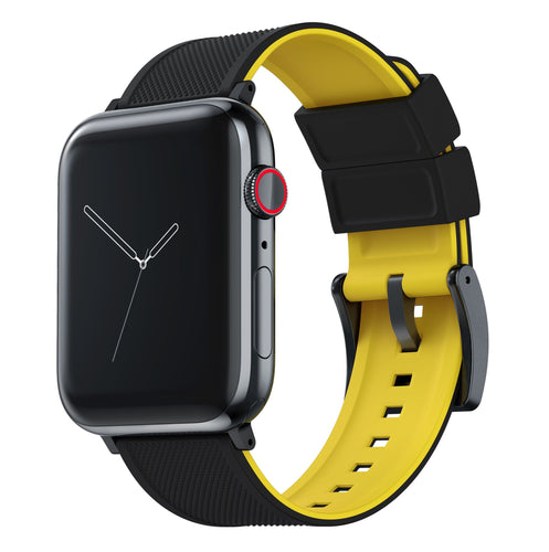 Apple Watch | Elite Silicone | Black Top / Yellow Bottom Apple Watch Bands Barton Watch Bands Small (38mm & 40mm) Black