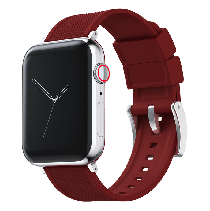 Apple Watch | Elite Silicone | Crimson Red Apple Watch Bands Barton Watch Bands Large (42mm & 44mm) Stainless Steel