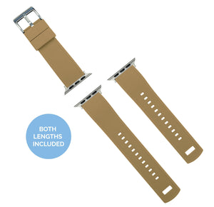 Apple Watch | Elite Silicone | Khaki Tan Top / Black Bottom Apple Watch Bands Barton Watch Bands