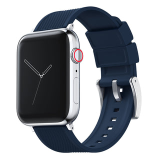 Load image into Gallery viewer, Apple Watch | Elite Silicone | Navy Blue Apple Watch Bands Barton Watch Bands Small (38mm & 40mm) Stainless Steel Standard