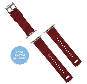 Apple Watch | Elite Silicone | Navy Blue Top / Crimson Red Bottom Apple Watch Bands Barton Watch Bands
